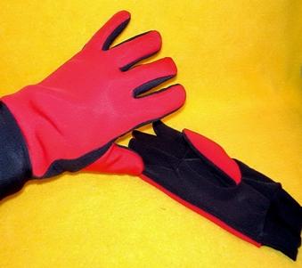esempio di applicazione dei 'phase change material - termoset' in dei guanti per la protezione dal freddo